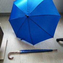 Зонты и трости - Зонт трость синий. Дерев ручка , 0