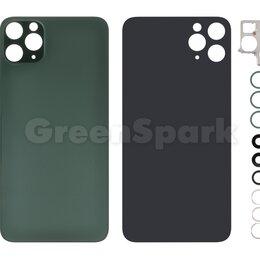 Корпусные детали - Задняя крышка для iPhone 11 Pro Max (зеленый) со стеклом камеры класс AAA, 0