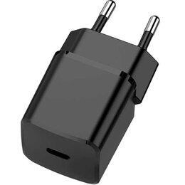 Защитные пленки и стекла - Сетевое зарядное устройство TFN TypeC PD 20W black б/кабеля, 0