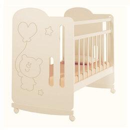 Кроватки - Детская кроватка VDK Sweet Bear колесо-качалка, 0