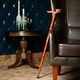 Зонты и трости - Трость сувенирная 90см, рукоять дракон, резная, 0