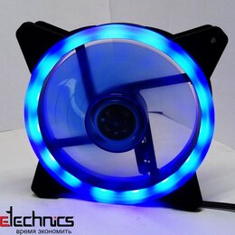 Кулеры и системы охлаждения - Вентилятор B.J 12025 FAN RGB 120мм синий 12В 0.37А, 0
