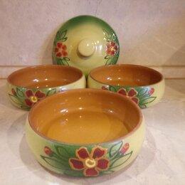 Посуда для выпечки и запекания - Керамические горшочки с росписью, 0