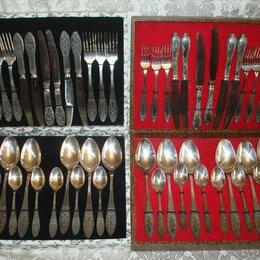 Столовые приборы - Набор столовых приборов мельхиор СССР очень редкие 24 предмета, 0