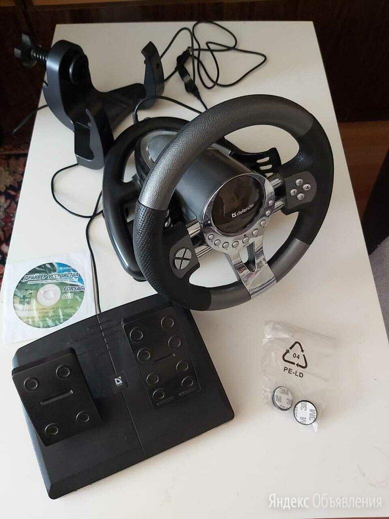 Игровой руль Defender Forsage GTR USB по цене 3000₽ - Рули, джойстики, геймпады, фото 0