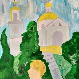 Картины, постеры, гобелены, панно - Картина гуашью Поклон, 0
