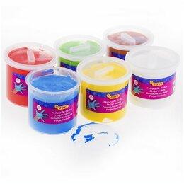 Аэрозольная краска - JOVI Краски пальчиковые, набор 6 цветов х 125 мл, JOVI, для малышей, 0