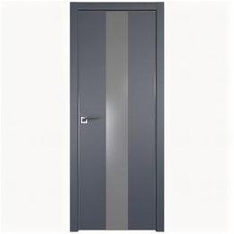 Межкомнатные двери - Межкомнатные двери Profil Doors 25E Антрацит Стекло Lacobel Серебряный лак Кр..., 0