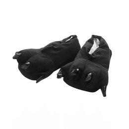 Кигуруми - Тапочки кигуруми (тапки-лапы), взрослые, размер 34-39, черный, 0