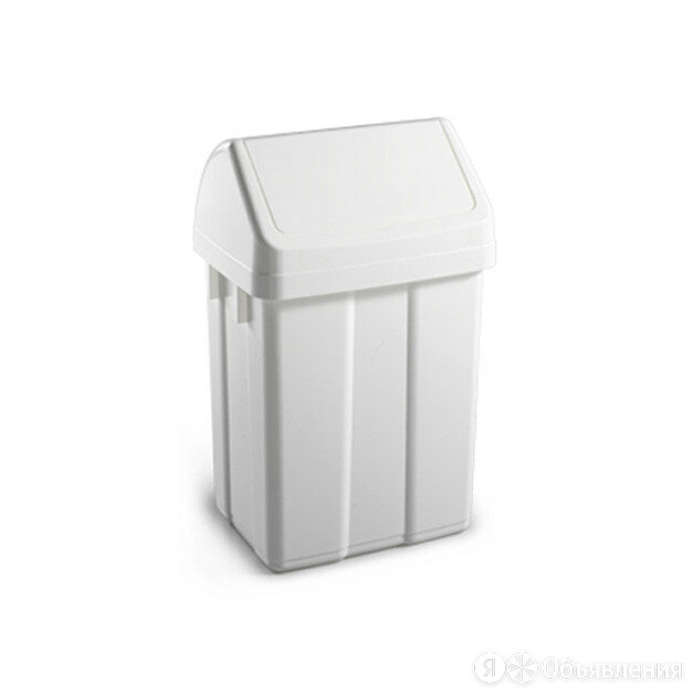 Корзина для мусора TTS с качающейся крышкой, 25 литров, белая по цене 1610₽ - Мебель для кухни, фото 0