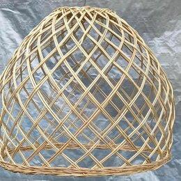 Люстры и потолочные светильники - Большой абажур плетеный, 0
