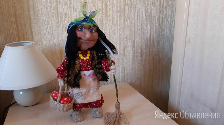 Баба яга в чулочной технике по цене 1300₽ - Рукоделие, поделки и сопутствующие товары, фото 0