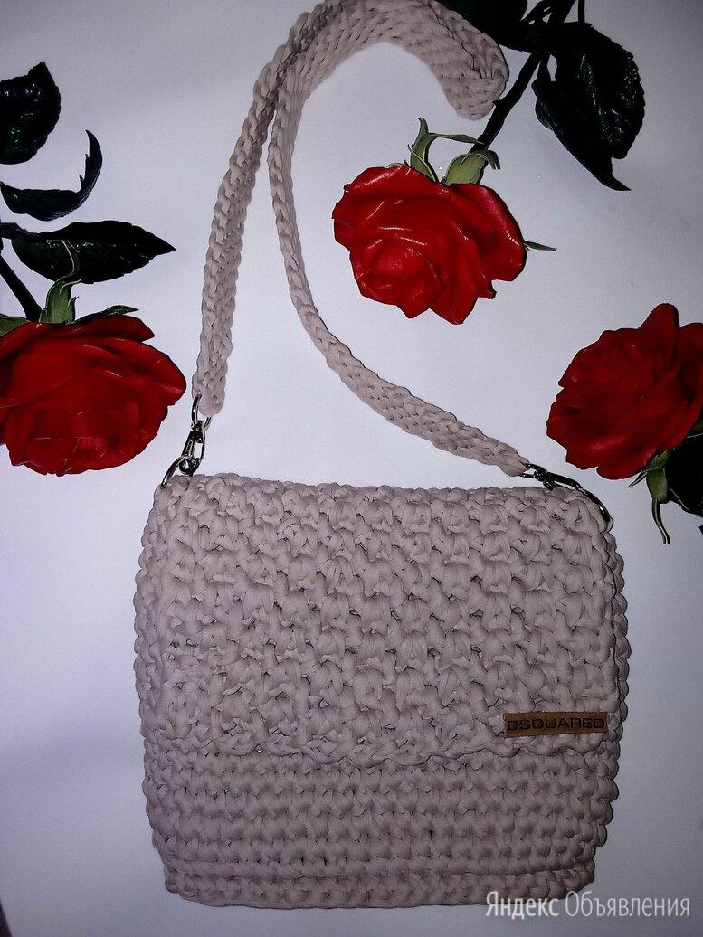 Вязаная кремовая  сумка крючком по цене 1850₽ - Сумки, фото 0