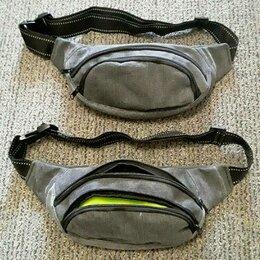 Сумки - Новая поясная сумка джинсовая 2 отдела, 0