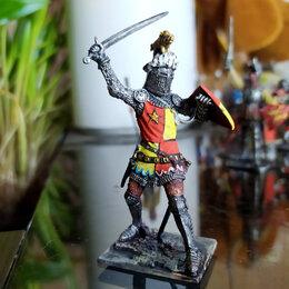 Статуэтки и фигурки - Оловянная миниатюра .Сэр оливер д'ингхем. англия, 1-я пол. 14 века, 0