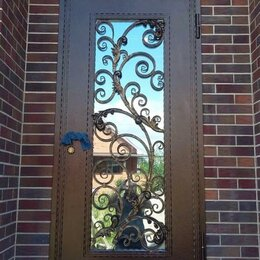 Входные двери - Дверь входная ИНЕЙ со стеклопакетом входная уличная металлическая, 0