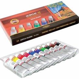 Краски - Краски акриловые KOH-I-NooR  10 цв по 16 мл картонная коробка, 0