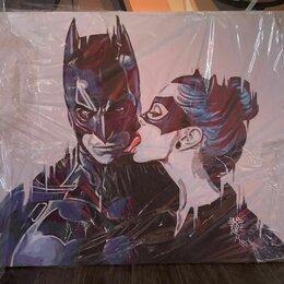 """Картины, постеры, гобелены, панно - Картина на холсте """"Бетмэн и женщина кошка"""", 0"""