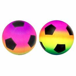 Мячи - 250125   Мяч Футбол радужный, 22см в пак. в кор.100шт, 0