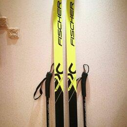 Беговые лыжи - Комплект: беговые лыжи Fischer 205 + палки 155, 0