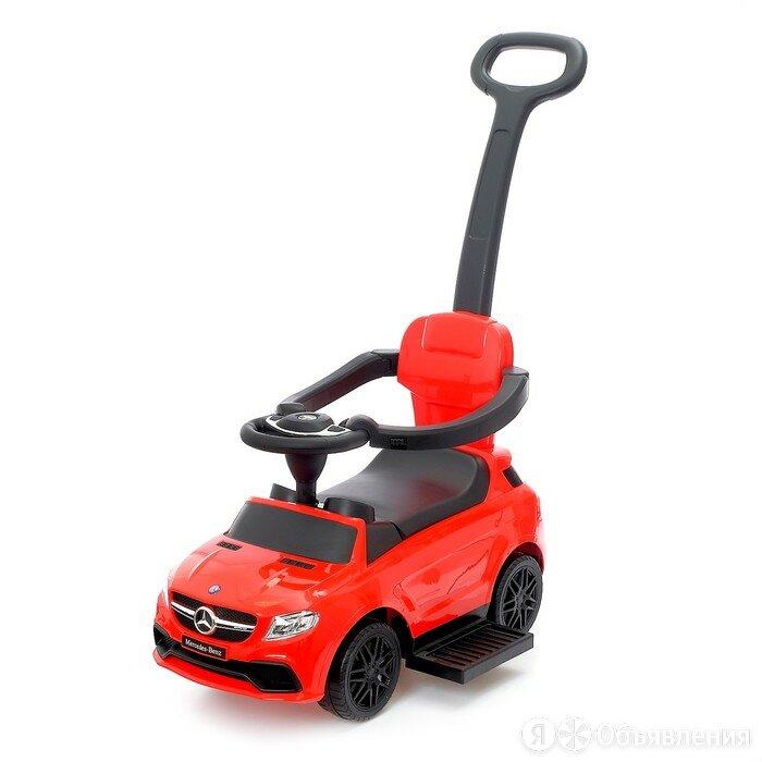 Толокар Mercedes-Benz AMG GLE, родительская ручка, звук, цвет красный по цене 7200₽ - Каталки и качалки, фото 0