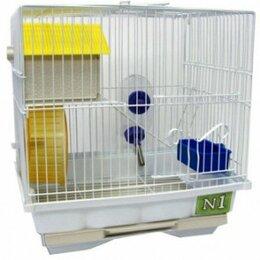 Клетки и домики  - N1 Клетка для хомяка, 30*23*31, 2 этажная,  укомплектованная., 0