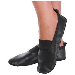 Обувь для спорта - Чешки, натуральная кожа, длина по стельке 21,5 см, цвет чёрный, 0