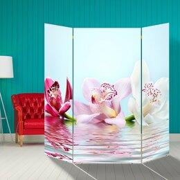 """Ширмы - Ширма """"Орхидеи на воде"""", 160 × 160 см, 0"""