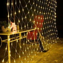 Новогодний декор и аксессуары - Гирлянда-сетка ул. Космос 300LED белый 2х1.5м, провод 3м, IP44, соед до 3шт K..., 0