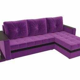 Диваны и кушетки - Угловой диван Атланта М Фиолетовый, 0