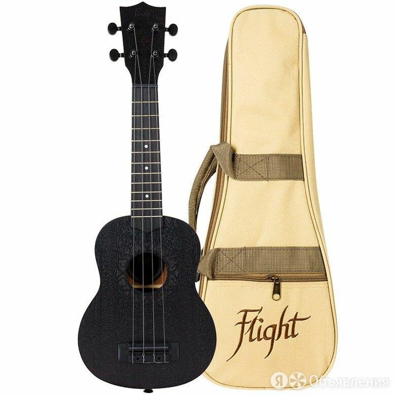 Flight NUS 310 BLACKBIRD укулеле сопрано, с чехлом по цене 5100₽ - Укулеле, фото 0