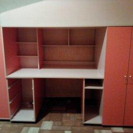 Кровати - Детская кровать чердак со столом и шкафом, 0