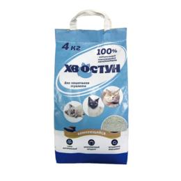 Наполнители для туалетов - Наполнитель «ХВОСТУН» комкующийся 4кг/6л , 0