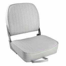 Походная мебель - Кресло складное мягкое ECONOMY с низкой спинкой, цвет серый, 0