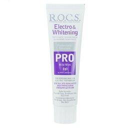 Зубная паста - Зубная паста R.O.C.S. PRO Electro   Whitening Mild Mint Отбеливание, 135 г, 0