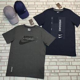 Футболки и майки - Футболка мужская Nike серая, синяя, 0