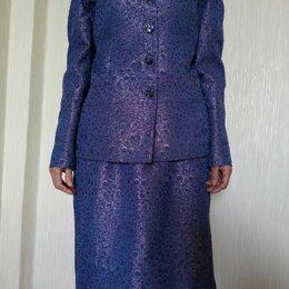 Костюмы - Костюм юбка+пиджак, XL. (Цвет светлее и не такой яркий, как получился на фото) , 0