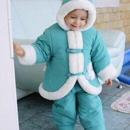 Комплекты верхней одежды - Зимняя шубка и штанишки- полукомбинезон. Новый, 0