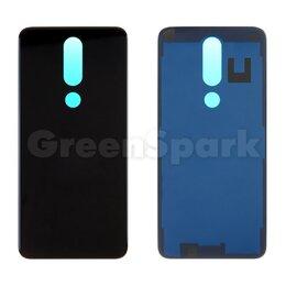 Корпусные детали - Задняя крышка для Nokia 5.1 Plus (черный), 0