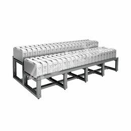 Мебель для учреждений - Двухрядный двухуровневый аккумуляторный стеллаж серии КРОН-АКС-12, 0