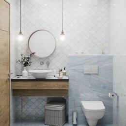 Керамическая плитка - Кафель  в ванную голубой, 0