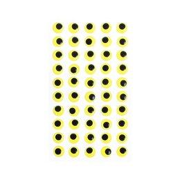 Средства для интимной гигиены - Глазки на клеевой основе, набор 60 шт, размер 1 шт: 1,2 см , цвет жёлтый, 0