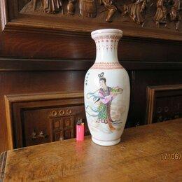 Посуда - Интересная старая китайская вазочка фарфор, 0