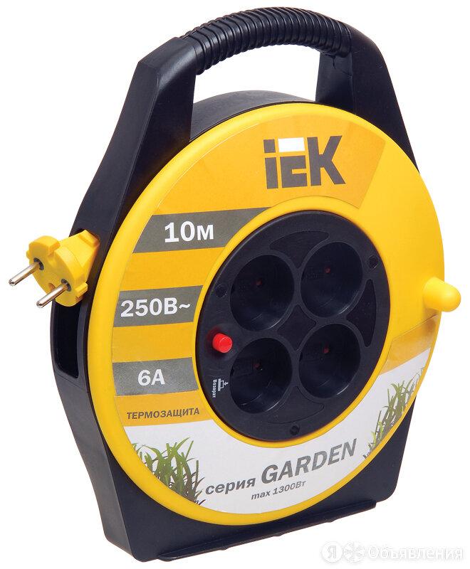 Удлинитель 10 метров УК10 на катушке с термозащитой , 4 гнезда, 2P,ПВС 2х0,75... по цене 1009₽ - Кабели и провода, фото 0