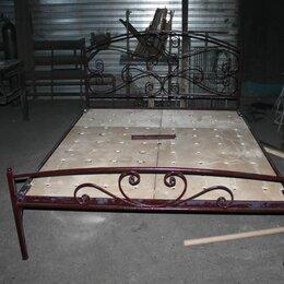 Кровати - Кровать кованая, кровать усиленная двуспальная на металл каркасе, 0