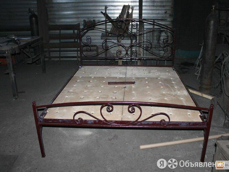 Кровать кованая, кровать усиленная двуспальная на металл каркасе по цене 38000₽ - Кровати, фото 0