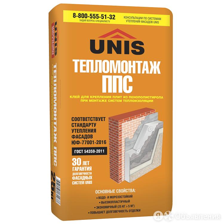 Клей для пенополистирола UNIS Тепломонтаж 25 кг  по цене 456₽ - Строительные смеси и сыпучие материалы, фото 0