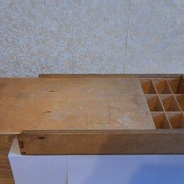 Корзины, коробки и контейнеры - Деревянный короб с ячейками, 0