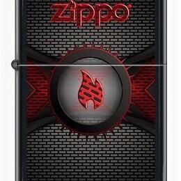 Пепельницы и зажигалки - Зажигалка Zippo Brick Wall Red Flame Logo, 0