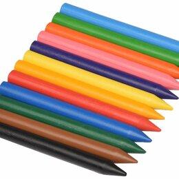 Канцелярские принадлежности - Карандаши восковые цветные 12шт, 0